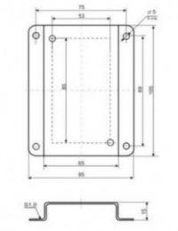Кронштейн КД1–Н для приборов и датчиков в настенном корпусе