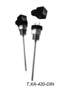 Датчики температуры жидкости и сыпучих сред Т.п/п-420-DIN, Т.ХА-420-DIN